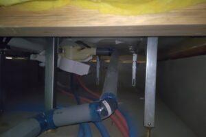 ユニットバス床下保温材の施工不良