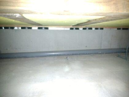 床下基礎パッキンによる 通気確保
