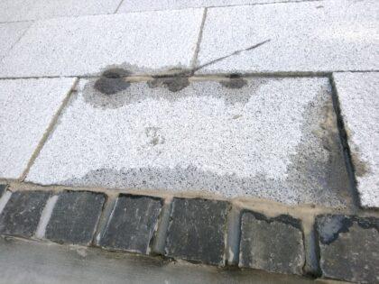 三栄建築設計 の新築 - 敷石が固定されていない
