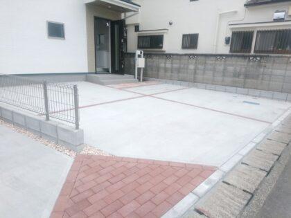 一建設 の新築 (福生市) - 外構工事も完了しておりました。