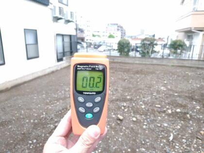 スマイルエコ の 新築一戸建て - 電磁波測定 異常なし