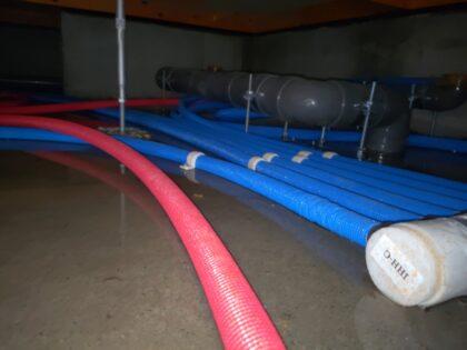 床下の水たまり