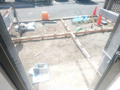 一建設 ( 相模原市 ) の新築一戸建て - 外構工事中