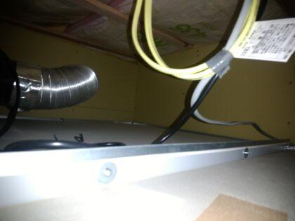 飯田産業の新築一戸建て - ユニットバス天井裏の石膏ボード