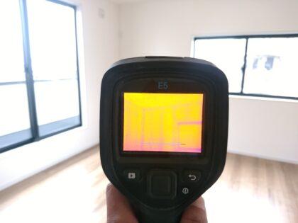 一建設の新築一戸建て(府中市) - 赤外線サーモグラフィーで調査