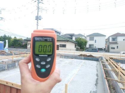 タクトホームの新築一戸建て(立川市) - 基礎工事中 電磁波は異常なし