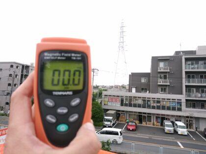 デックス (川崎市) の未完成物件- 電磁波の測定