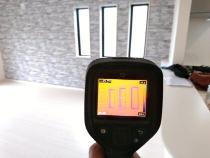 一建設 (久喜市)の 新築一戸建て - 赤外線サーモグラフィーで断熱材の調査