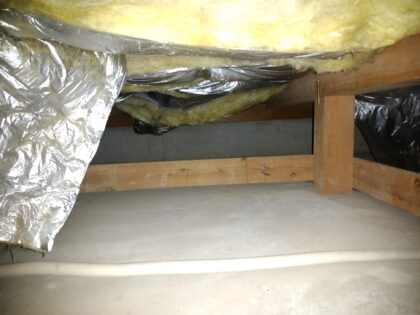リプライス (船橋市)の 中古戸建て - 床下断熱材 一部剥がれあり