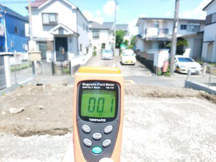 あさひハウジングセンター(藤沢市) の 未完成物件 - 電磁波の測定