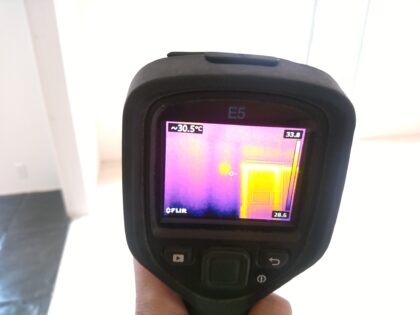 東栄住宅 (松戸市) の新築一戸建てを 建物診断 - 赤外線サーモグラフィーで調査