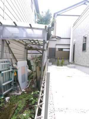 東栄住宅 (松戸市) の新築一戸建てを 建物診断 - 越境の確認