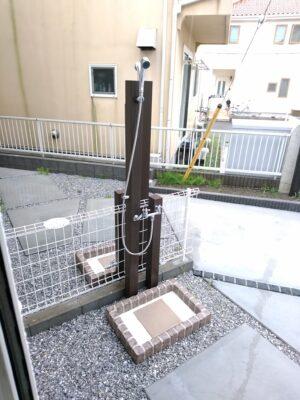 イーカム (茅ヶ崎市) の新築一戸建て - 屋外シャワー