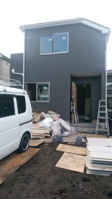 タクトホーム(横浜市)の未完成物件 - 作業の最中でした