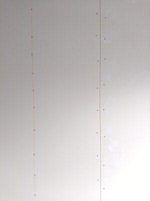 タクトホーム(横浜市)の未完成物件 - 石膏ボードのビスピッチ確認