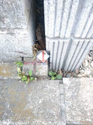 タクトホーム(横浜市)の未完成物件 - 境界の確認