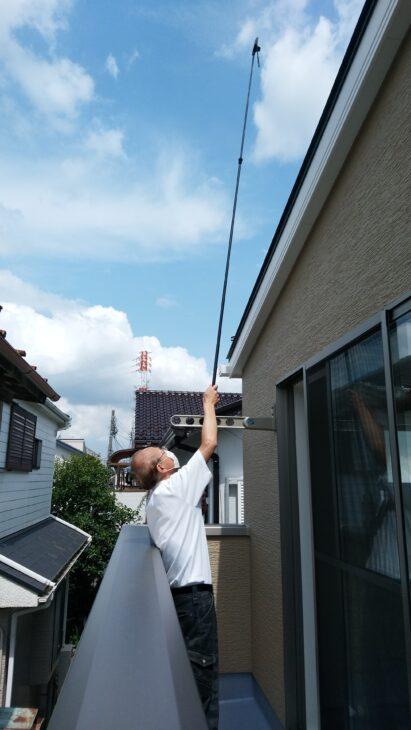 永大(越谷市)の新築一戸建て - 屋根の上もチェックします