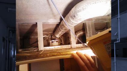 天井裏の写真
