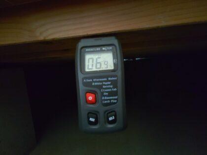 飯田産業 の物件の 床下含水率を調査
