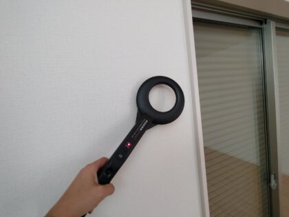 飯田産業 の物件を 金属探知機で調査