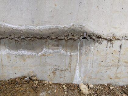 基礎コンクリート施工不良