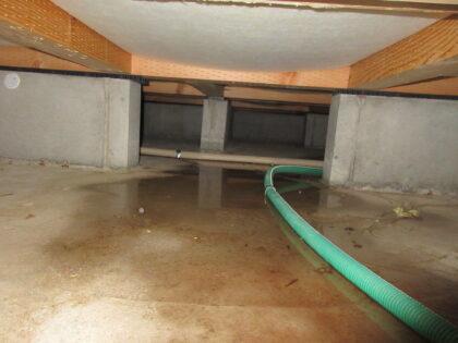 床下水漏れの写真